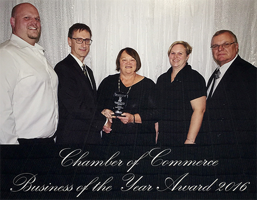 Chamber of Commerce Business of the Year Award 2016