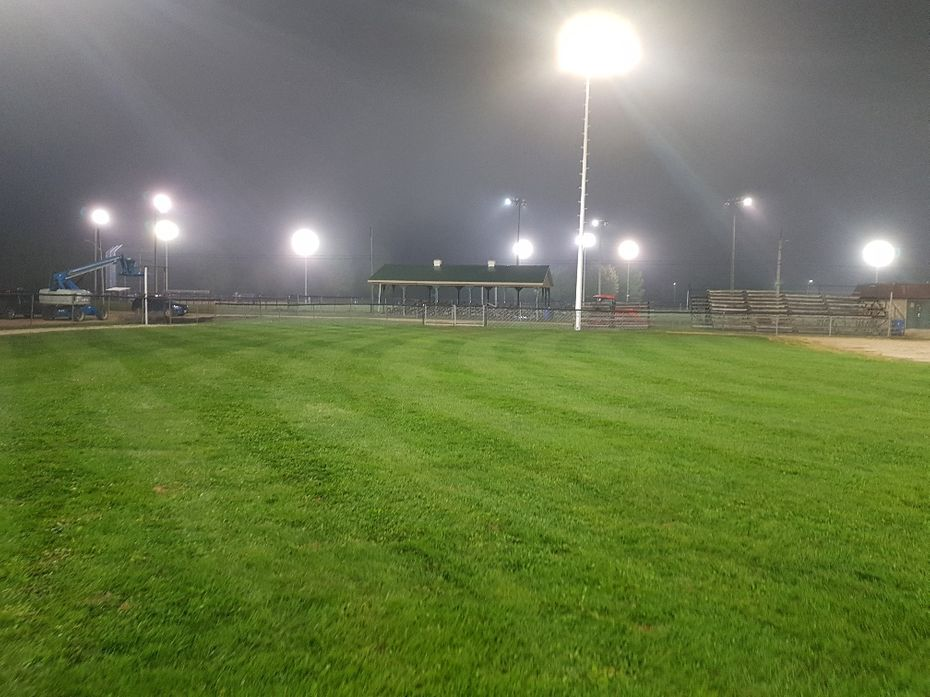 side ground with lights